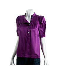 Marc By Marc Jacobs | Bright Purple Hammered Silk Blouse | Lyst