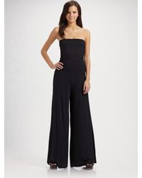 Rachel Pally | Black Strapless Knit Jumpsuit | Lyst