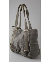 Splendid - Gray Solid Canvas Tote - Lyst