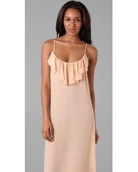 Sunner - Pink Cambridge Flounce Maxi Dress - Lyst