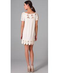Temperley London | White Mini Oriel Georgette Dress | Lyst