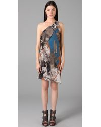 VPL - Blue Overhang Dress - Lyst