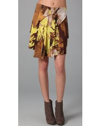 VPL | Yellow Twin Flap Skirt | Lyst