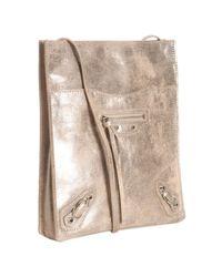 Balenciaga | Pink Praline Metallic Calfskin Milky Way Papier Crossbody Bag | Lyst