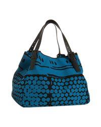 Bottega Veneta | Blue Empire Bolle Print Canvas and Leather Tote | Lyst