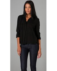 Cheap Monday | Black Daria Button Up Blouse | Lyst
