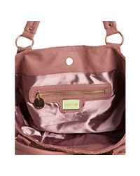 Deux Lux - Pink Blush Basketwoven Decker Crossbody Tote - Lyst