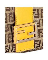 Fendi | Yellow Zucchino Canvas Mamma Shoulder Bag | Lyst