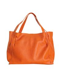 Furla | Orange Patchouli Leather Fluorite Shopper Tote | Lyst