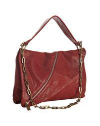 Kooba | Red Leather Halle Asymmetrical Zipper Shoulder Bag | Lyst