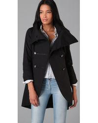 Mackage - Black Military Trench Coat with Hidden Hood - Lyst