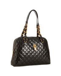 Marc Jacobs | Black Quilted Leather Karlie Satchel | Lyst