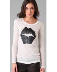 Markus Lupfer - White Rubber Print Lip Top - Lyst