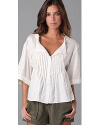 Nanette Lepore | White Off Duty Top | Lyst