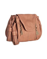 See By Chloé | Natural Peach Leather Zip and Tassel Crossbody Bag | Lyst