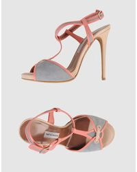 Tabitha Simmons | Gray Bailee Suede Sandals | Lyst