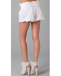 Thakoon - White Paper Bag Shorts - Lyst