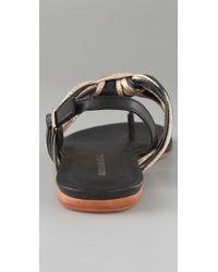 Loeffler Randall - Gioia Knot Sandal in Gold Black - Lyst