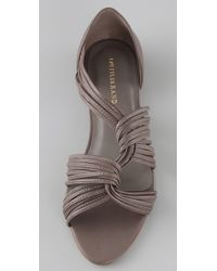 Loeffler Randall - Gray Lila Twist Sandal - Lyst