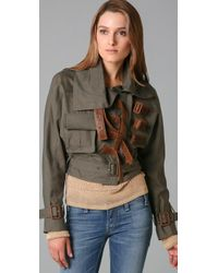 Camilla & Marc | Green Tame Belted Bomber Jacket | Lyst