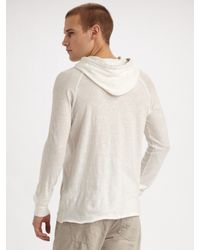 Converse - White Slubbed Pullover Hoodie for Men - Lyst