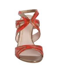 Elie Tahari | Orange Firecracker Strappy Cassandra Slingback Sandals | Lyst