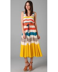 Marc By Marc Jacobs | Yellow Simone Stripe Dress | Lyst