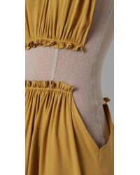 Opening Ceremony   Yellow Mesh Dress Wtih Gathered Detail   Lyst