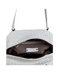 Bottega Veneta | White Basketwoven Leather Box Crossbody Bag | Lyst