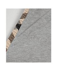 Burberry - Gray Brit Grey Cotton Ruffle Sleeve Polo - Lyst