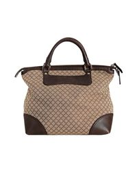 Gucci - Natural Beige Diamante Canvas Catherine Top Handle Bag - Lyst