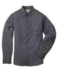 Barbour - Gray Moorgate Quilted Style Shirt for Men - Lyst
