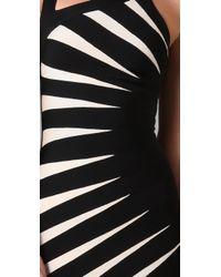 Hervé Léger - Black Starburst Dress - Lyst