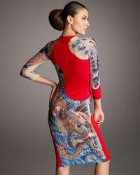 Alexander McQueen | Red Koi-print Dress | Lyst