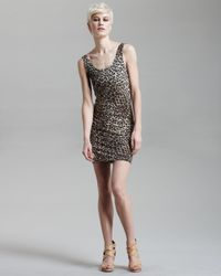 Alice + Olivia | Multicolor Fitted Leopard-print Dress | Lyst