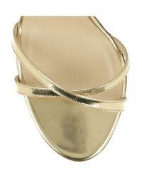 Jimmy Choo - Metallic India Sandals - Lyst