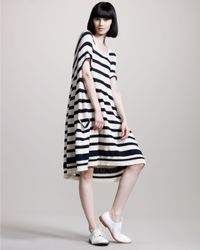 Junya Watanabe | Blue Striped Swing Dress | Lyst