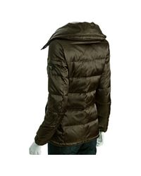 Prada | Green Military Quilted Nylon Down Jacket | Lyst