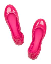 Tory Burch   Pink Eddie Patent-leather Ballerina Flats   Lyst