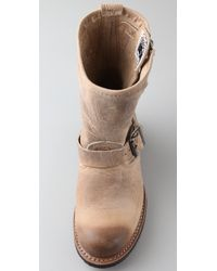 Frye | Brown Engineer 8r Boots | Lyst