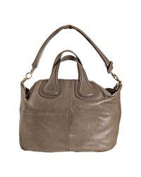 Givenchy | Gray Grey Lambskin Nightingale Medium Top Handle Bag | Lyst
