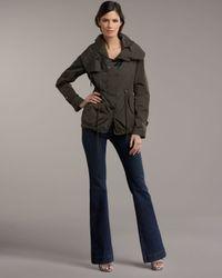 Moncler | Black Drawstring Funnel-neck Jacket | Lyst