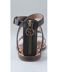 Sam Edelman - Garner Sandal in Black, Bronze & Whiskey - Lyst