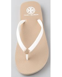 Tory Burch - White Thin Flip Flops - Lyst