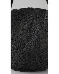 Zimmermann - Black Circular Raffia Bag - Lyst