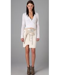 Alexander Wang - White Paneled Combo Skirt - Lyst