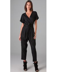 Graham & Spencer | Black Short Sleeve Jumpsuit | Lyst
