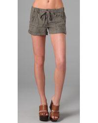 Joie | Brown Abner Linen Cargo Shorts | Lyst