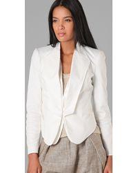 L.A.M.B. - White Tuxedo Blazer - Lyst