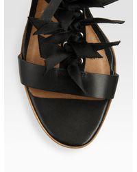 Leifsdottir - Black Bow T-strap Platform Sandals - Lyst